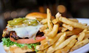 Burger with Malt Beverage
