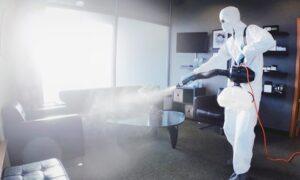Sanitising Mist Application