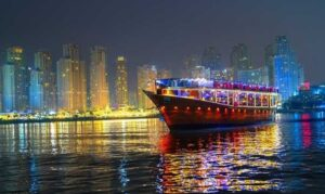 Two-Hour Marina Dinner Cruise: Child (AED 115) or Adult (AED 127)