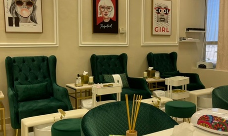 Ladies can enjoy having their hands pampered with basic or gelish manicure and pedicure for AED55.00 at Discount Sales.
