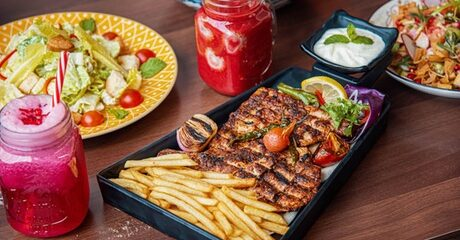 AED 60 Toward Food and Drinks