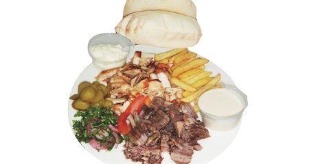 Shawarma Plate and Drink