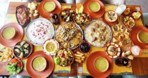 50 AED toward Lebanese Food