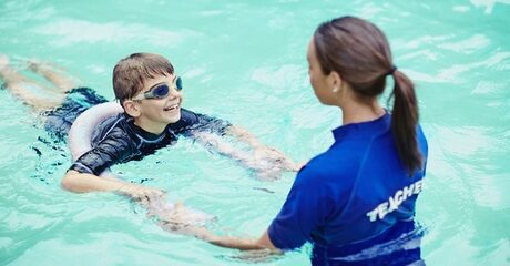 Swimming Lesson: Child (AED 105) or Adult (AED 130)